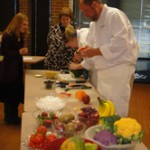 chef making edible art