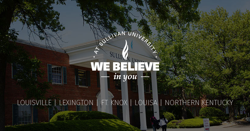 at Sullivan University we believe in you poster graphic