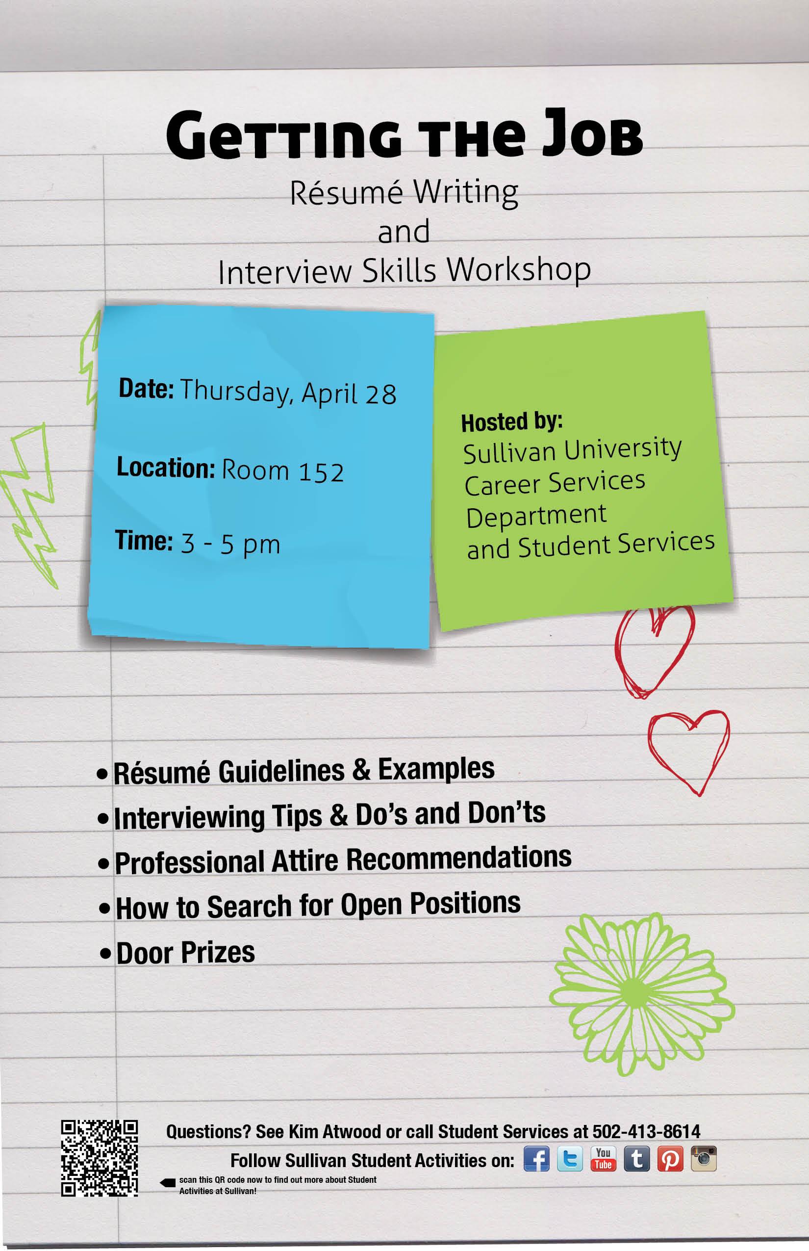 Resume Writing & Interview Skills.