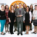 best places wot work in Kentucky awards ceremony group picture with Glenn Sullivan holding the award