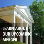 Learn about our upcoming merger text over a picture of the front of the main building at the Sullivan Louisville campus