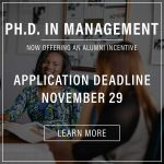 PH.D. in management application deadline poster image