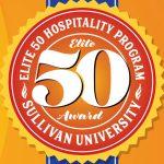 elite 50 hospitality program Sullivan University award badge