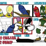 how to create a comic strip digital illustration