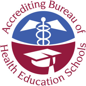 accredited bureau of health education schools logo