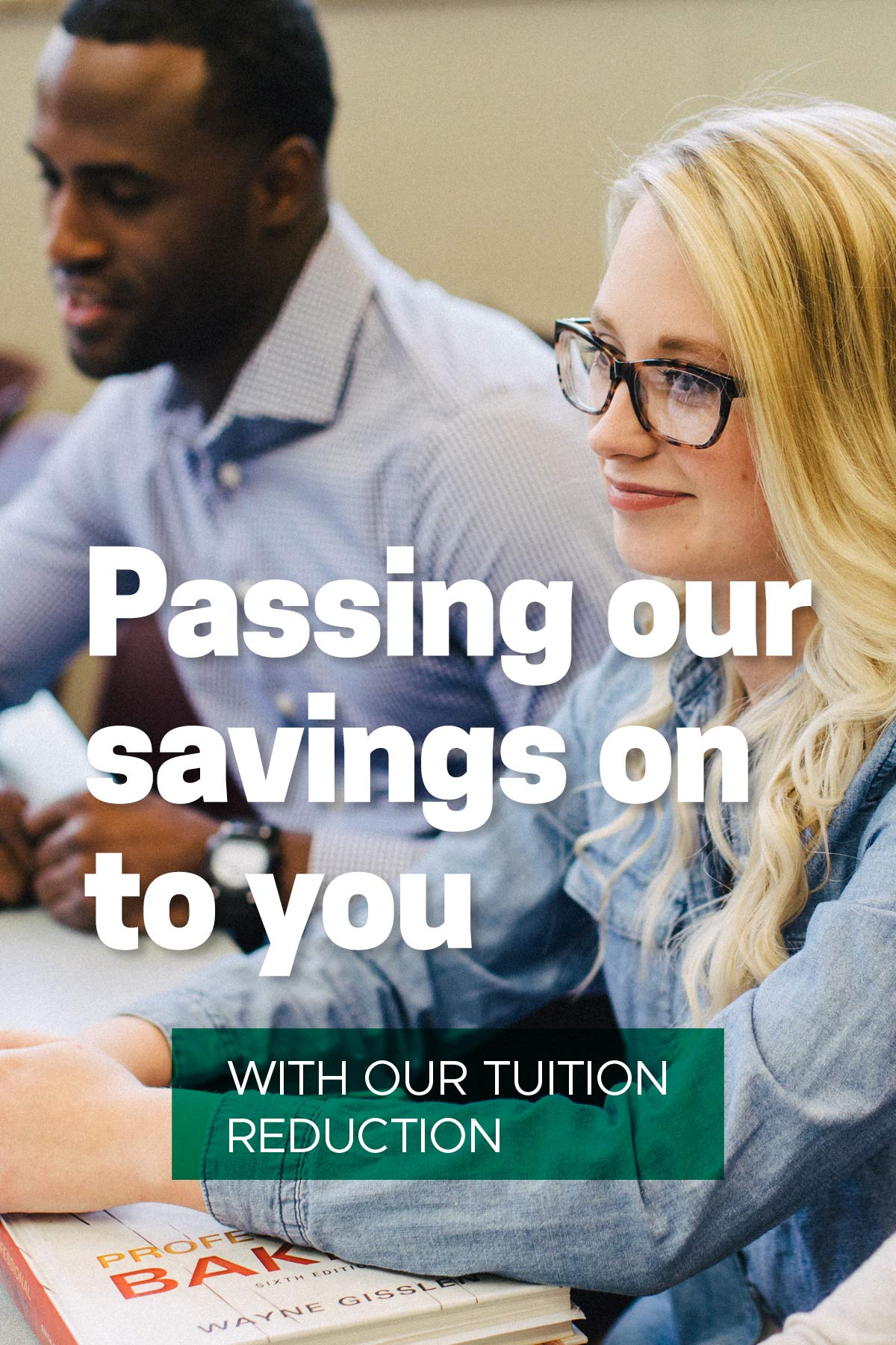 passing our savings on to you with our tuition reduction banner image
