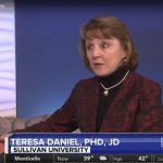 Dr. Teresa Daniel PHD, JD from Sullivan University on WKYT Kentucky interview expert on workplace bullying picture