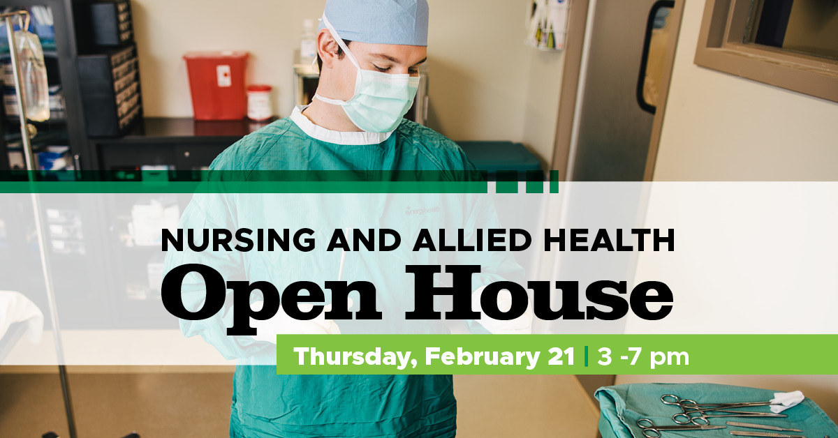 nursing and allied health open house poster